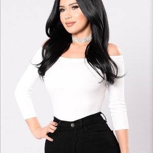 Fashion Nova White Bodysuit!